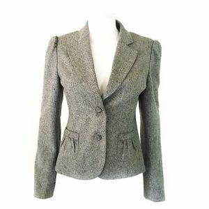 White House Black Market marled gray blazer